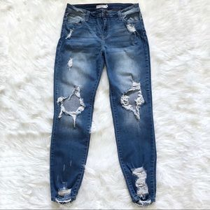 Cello skinny distressed jeans size 11.